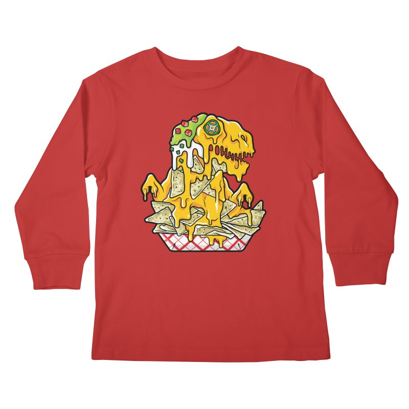 Nachosaurus Kids Longsleeve T-Shirt by Anthony Petrie Print + Product Design