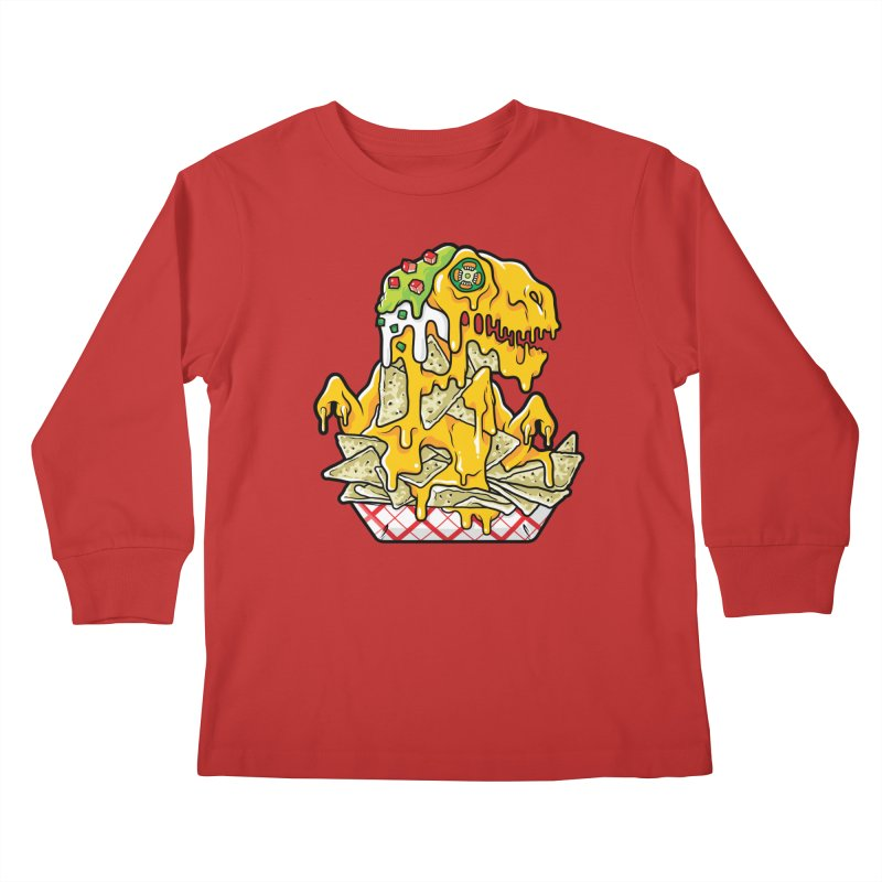 Nachosaurus Kids Longsleeve T-Shirt by Anthony Petrie