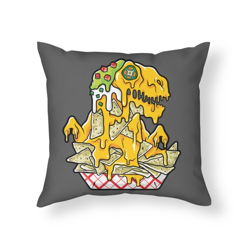 Nachosaurus Home Throw Pillow by Anthony Petrie