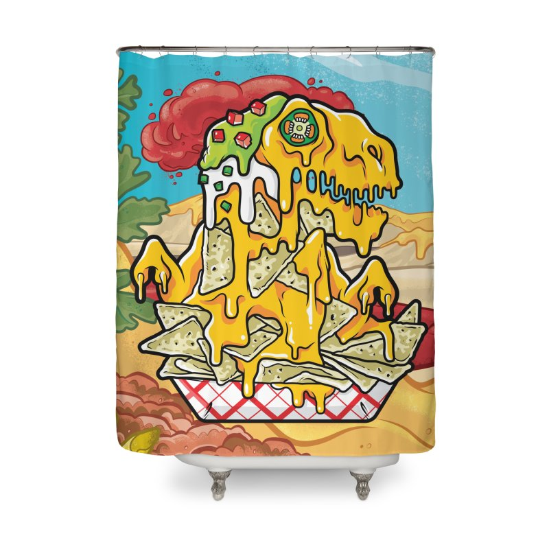 Nachosaurus Home Shower Curtain by Anthony Petrie Print + Product Design