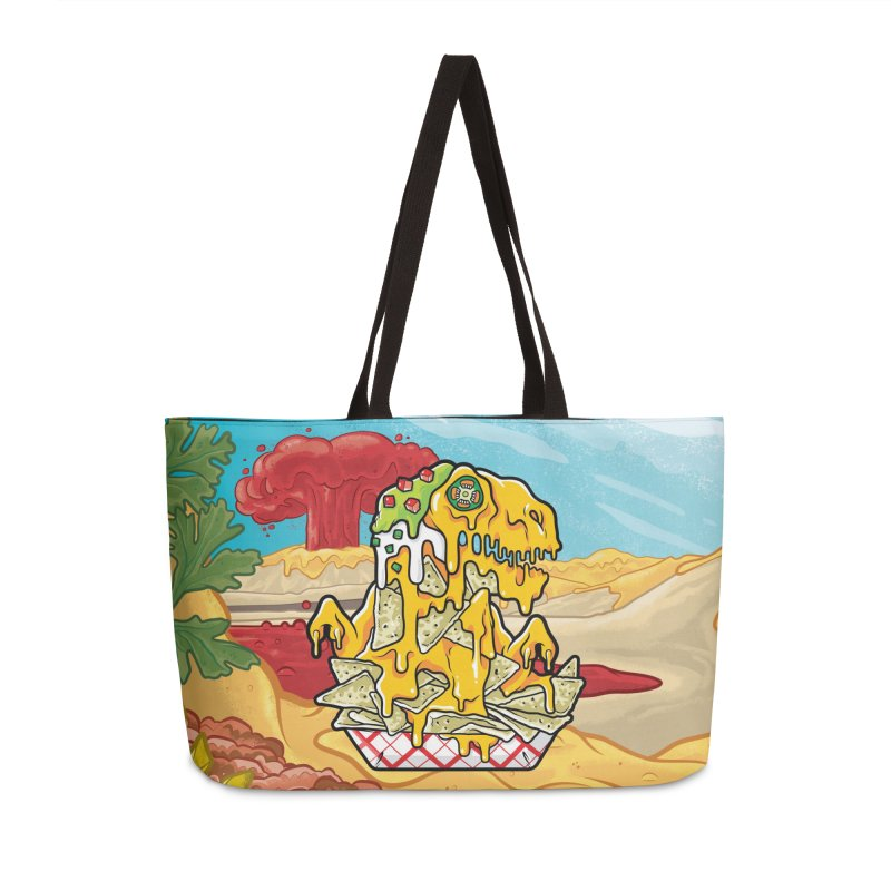 Nachosaurus Accessories Weekender Bag Bag by Anthony Petrie Print + Product Design