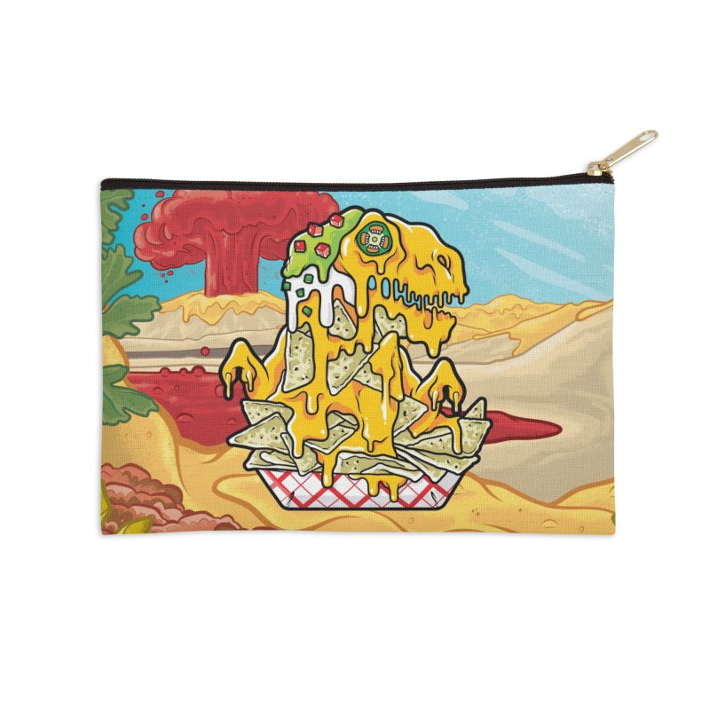 Nachosaurus Accessories Zip Pouch by Anthony Petrie