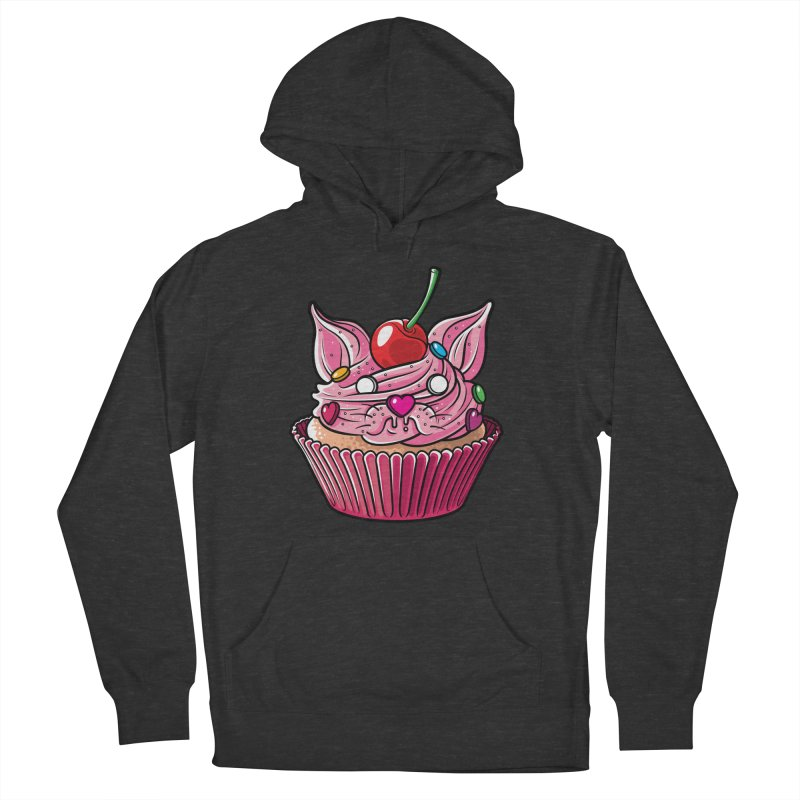 Cupcat Men's French Terry Pullover Hoody by Anthony Petrie Print + Product Design
