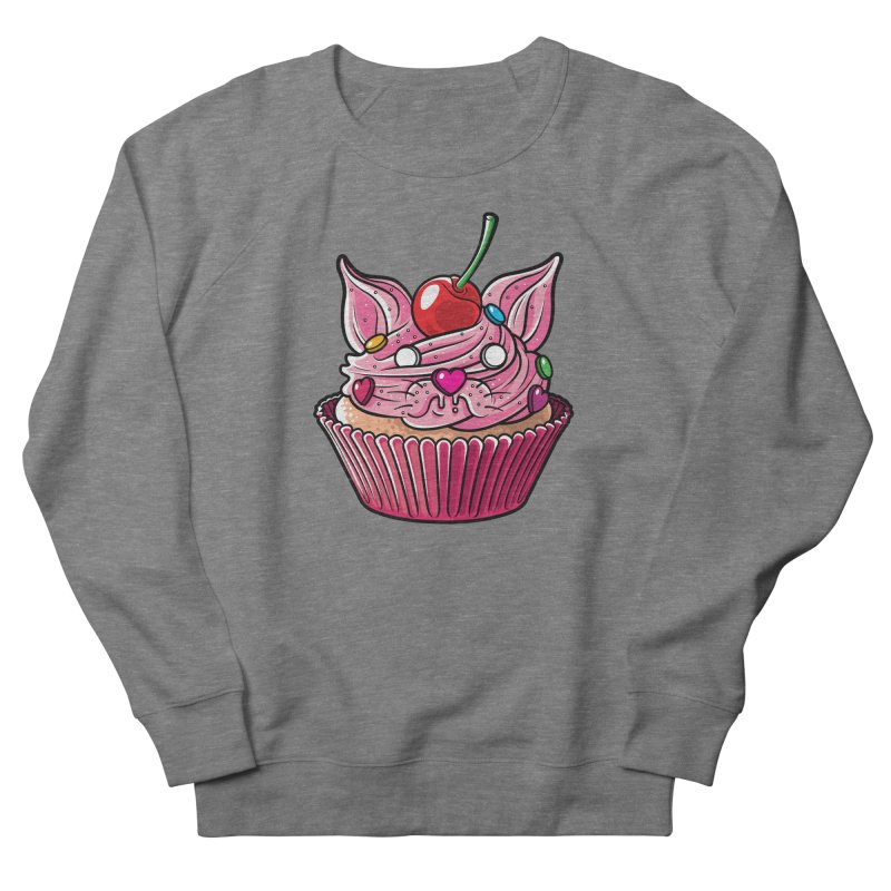 Cupcat Women's French Terry Sweatshirt by Anthony Petrie Print + Product Design