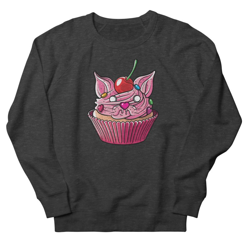 Cupcat Men's French Terry Sweatshirt by Anthony Petrie Print + Product Design