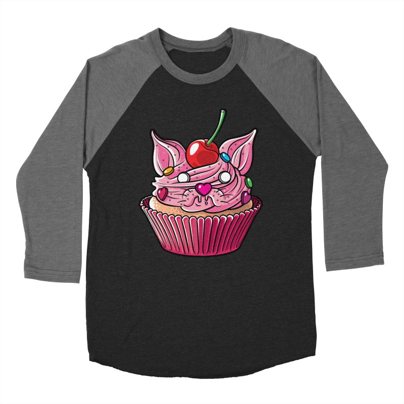 Cupcat Men's Baseball Triblend T-Shirt by Anthony Petrie