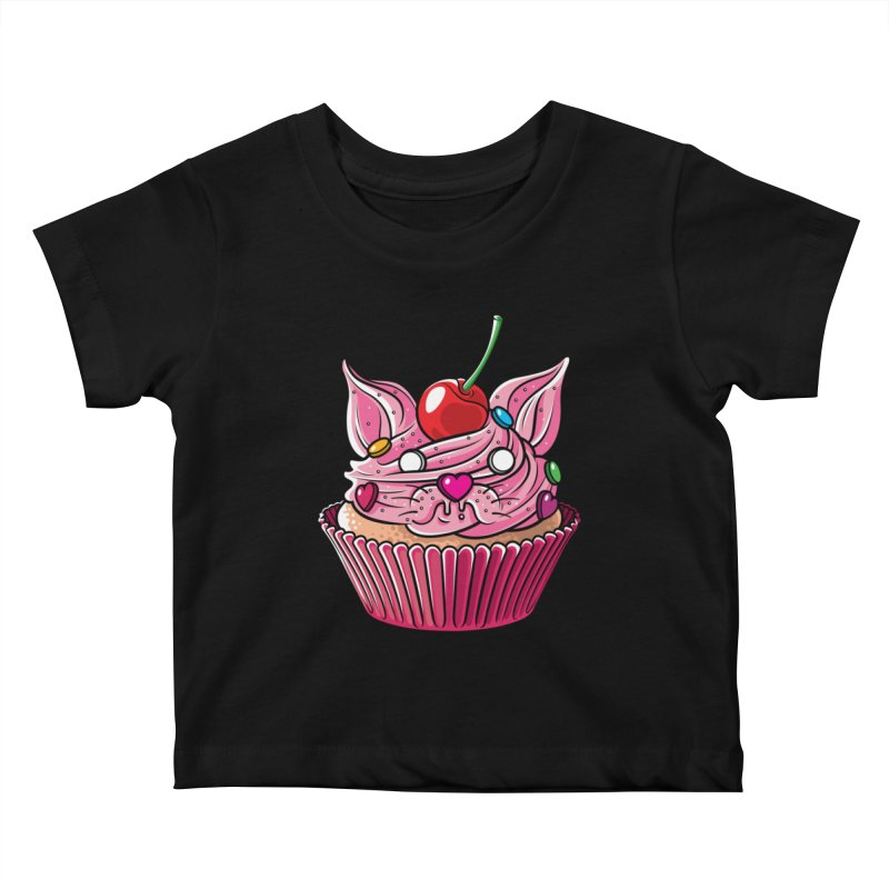 Cupcat Kids Baby T-Shirt by Anthony Petrie Print + Product Design