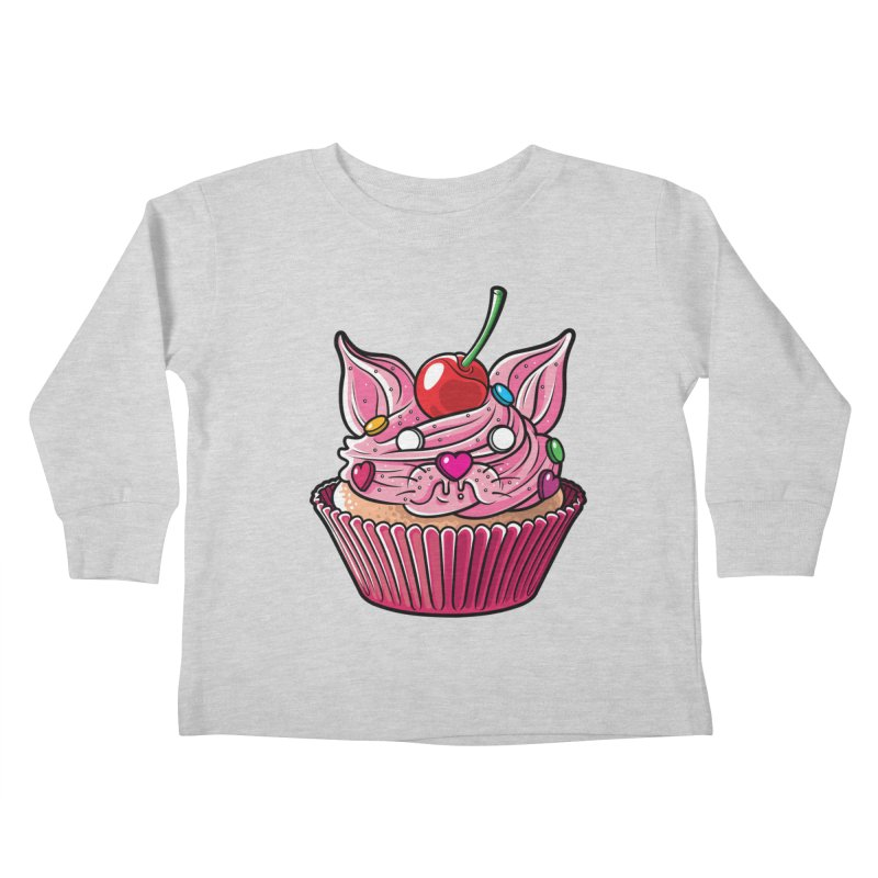 Cupcat Kids Toddler Longsleeve T-Shirt by Anthony Petrie Print + Product Design
