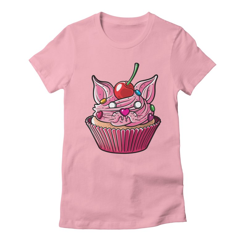 Cupcat Women's Fitted T-Shirt by Anthony Petrie Print + Product Design