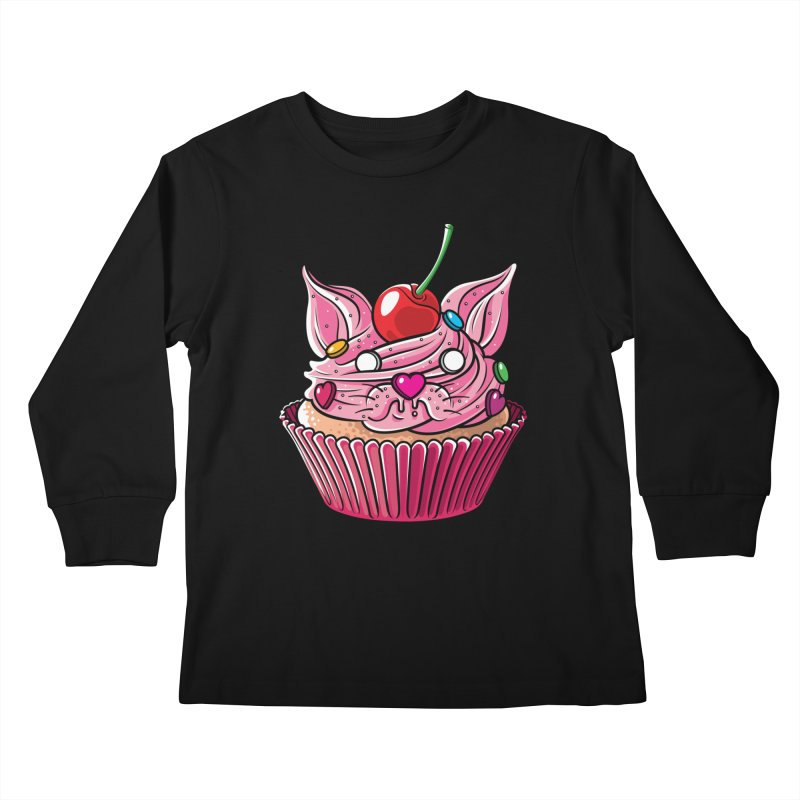 Cupcat Kids Longsleeve T-Shirt by Anthony Petrie Print + Product Design