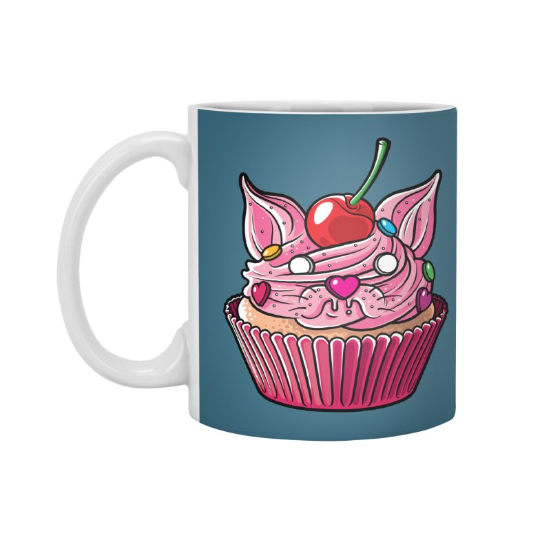 Cupcat Accessories Standard Mug by Anthony Petrie Print + Product Design