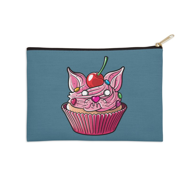 Cupcat Accessories Zip Pouch by Anthony Petrie Print + Product Design