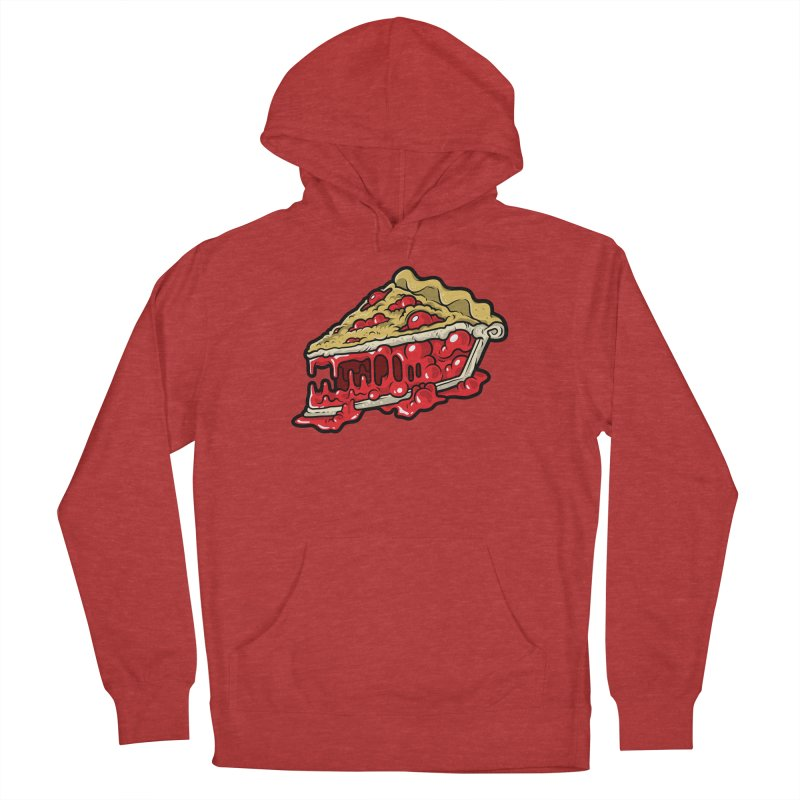 Cherry Croco-Pie-L Men's French Terry Pullover Hoody by Anthony Petrie Print + Product Design