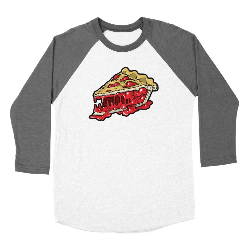 Cherry Croco-Pie-L Women's Baseball Triblend Longsleeve T-Shirt by Anthony Petrie Print + Product Design