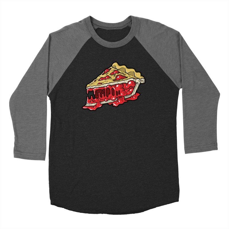 Cherry Croco-Pie-L Men's Baseball Triblend Longsleeve T-Shirt by Anthony Petrie Print + Product Design