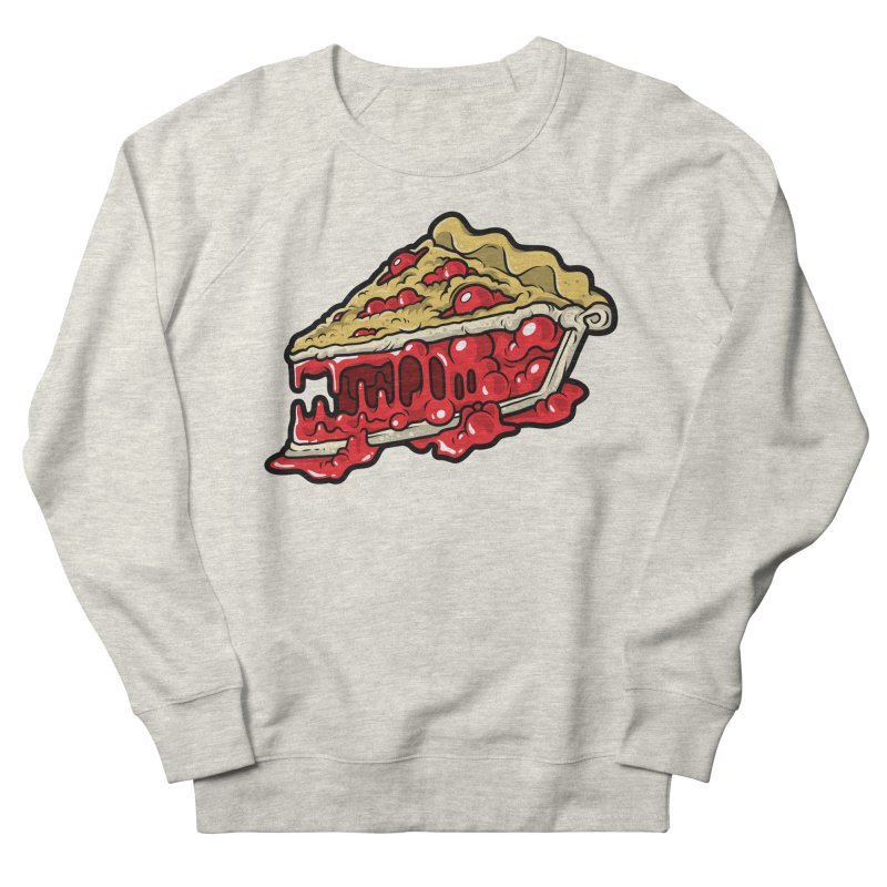 Cherry Croco-Pie-L Women's French Terry Sweatshirt by Anthony Petrie Print + Product Design