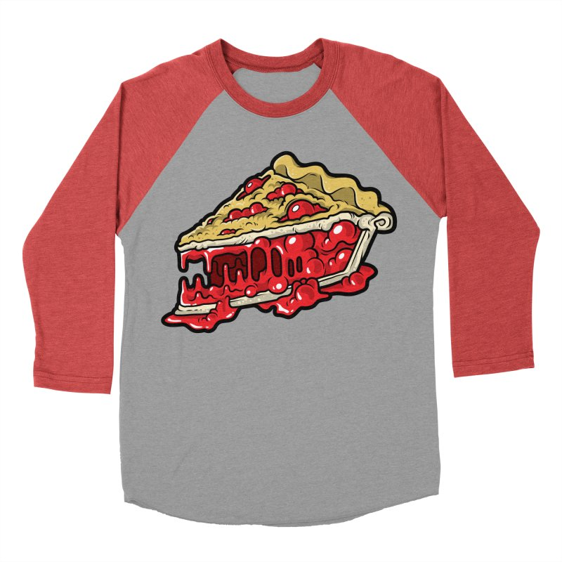 Cherry Croco-Pie-L Men's Baseball Triblend T-Shirt by Anthony Petrie