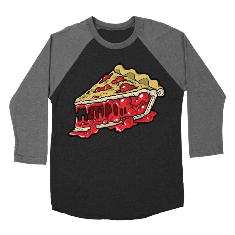 Cherry Croco-Pie-L Men's Baseball Triblend Longsleeve T-Shirt by Anthony Petrie Print + Product Design