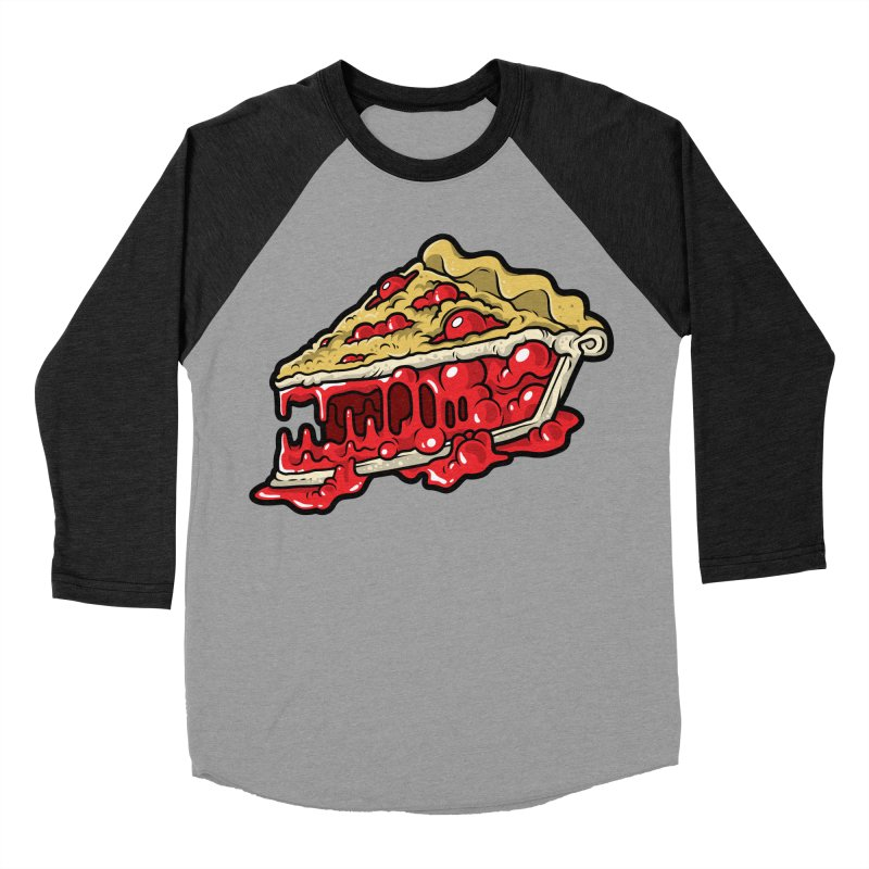 Cherry Croco-Pie-L Men's Baseball Triblend T-Shirt by Anthony Petrie Print + Product Design