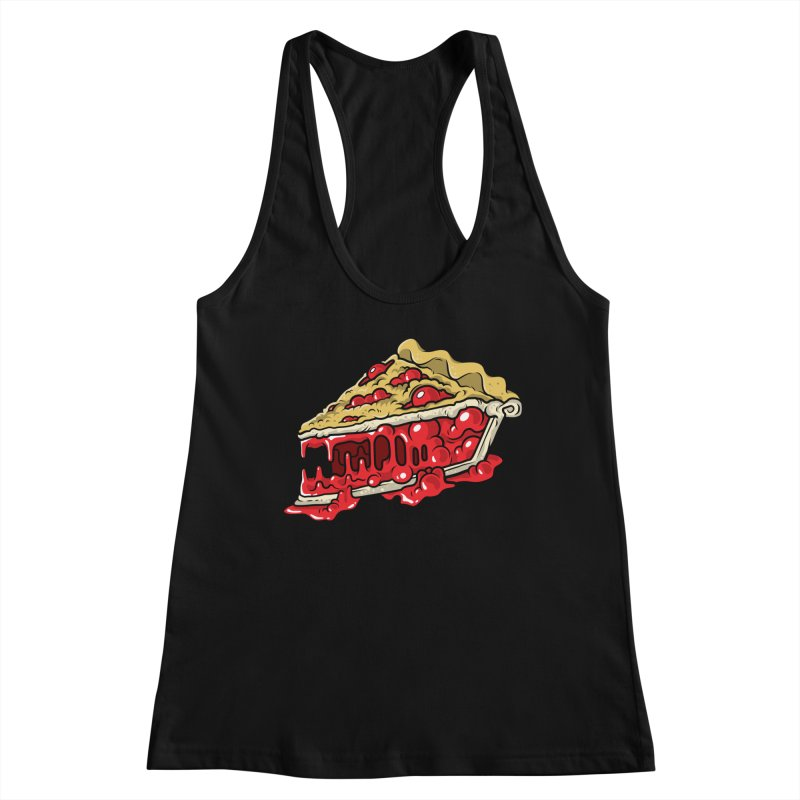 Cherry Croco-Pie-L Women's Racerback Tank by Anthony Petrie Print + Product Design