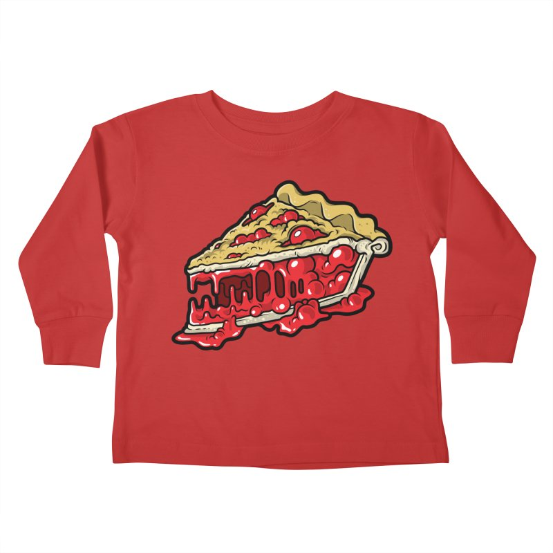 Cherry Croco-Pie-L Kids Toddler Longsleeve T-Shirt by Anthony Petrie Print + Product Design