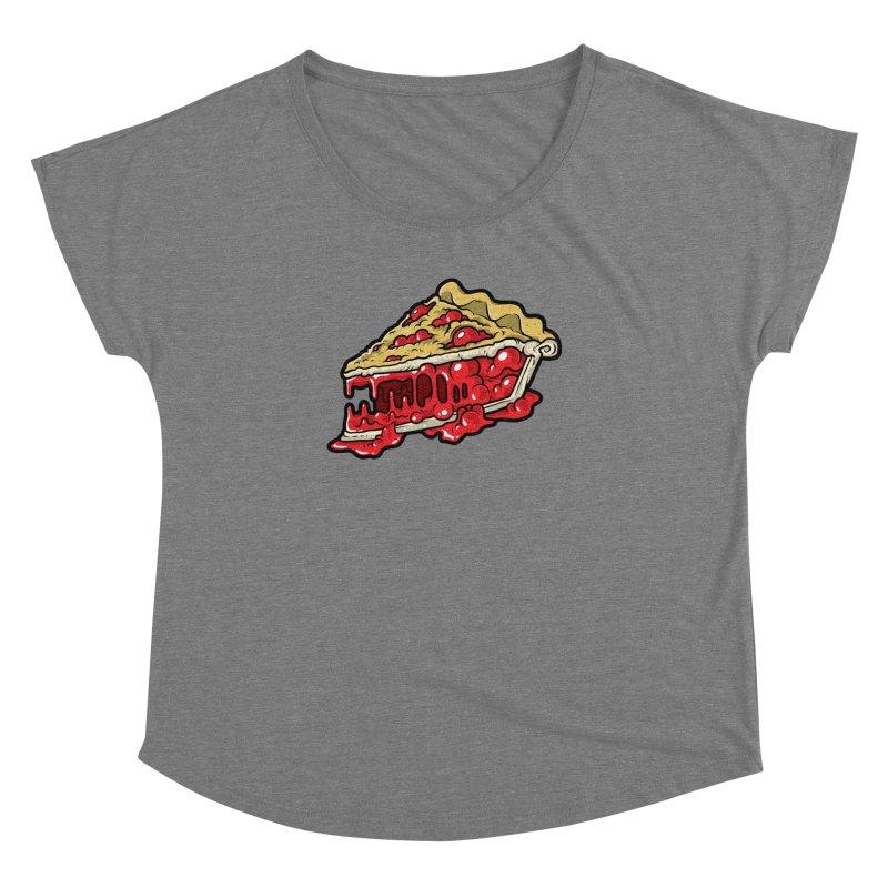 Cherry Croco-Pie-L Women's Dolman Scoop Neck by Anthony Petrie Print + Product Design