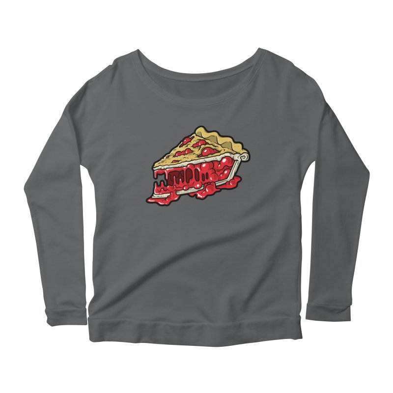 Cherry Croco-Pie-L Women's Scoop Neck Longsleeve T-Shirt by Anthony Petrie Print + Product Design