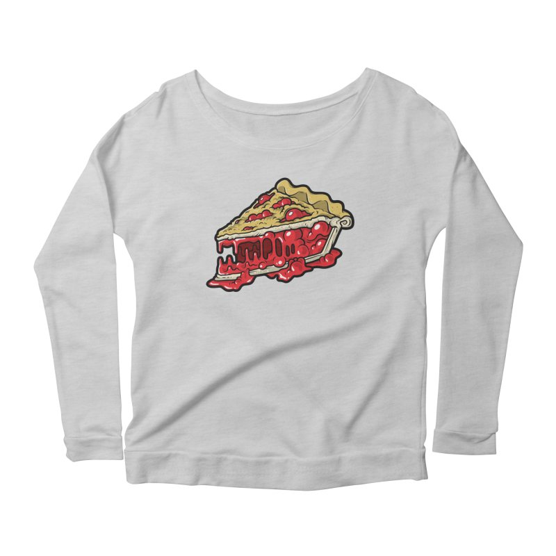 Cherry Croco-Pie-L Women's Longsleeve Scoopneck  by Anthony Petrie