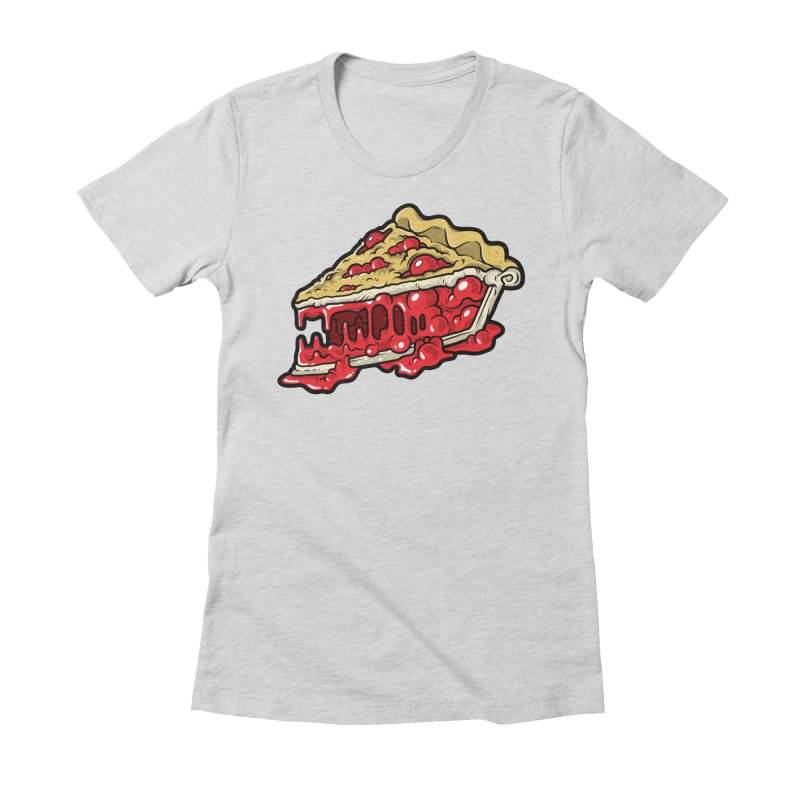 Cherry Croco-Pie-L Women's Fitted T-Shirt by Anthony Petrie