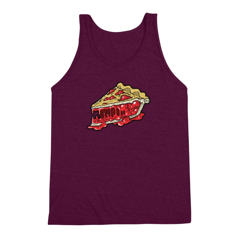 Cherry Croco-Pie-L Men's Triblend Tank by Anthony Petrie Print + Product Design