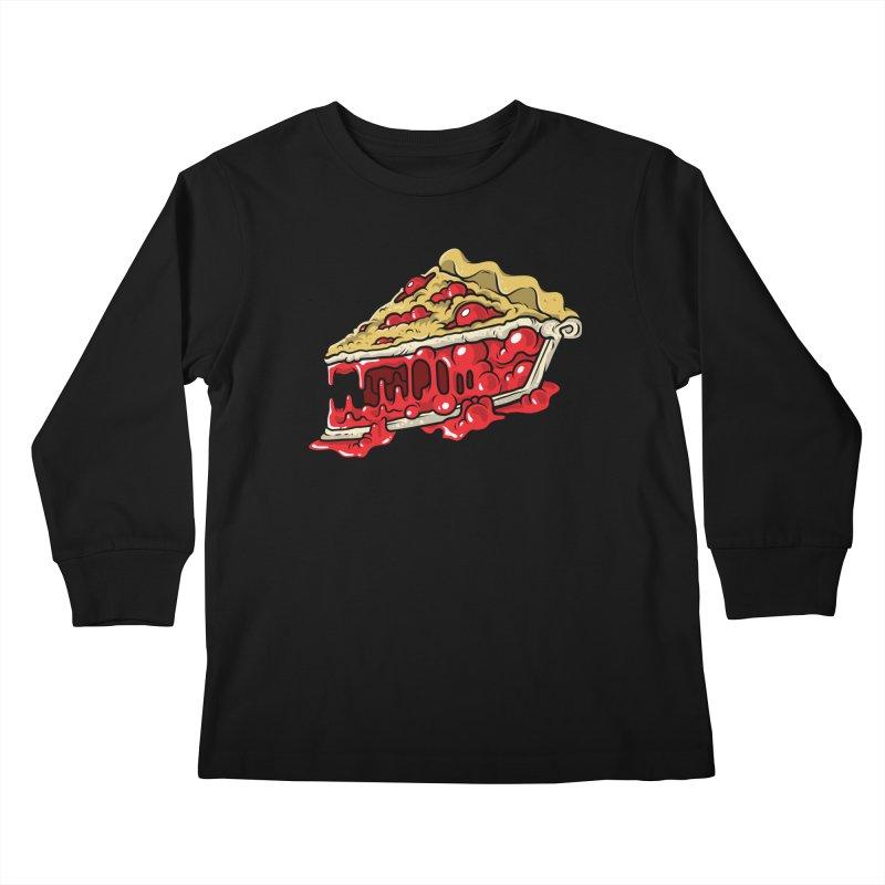 Cherry Croco-Pie-L Kids Longsleeve T-Shirt by Anthony Petrie Print + Product Design