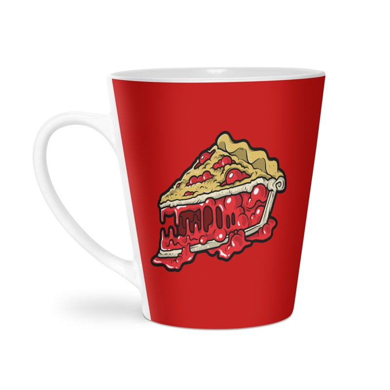 Cherry Croco-Pie-L Accessories Latte Mug by Anthony Petrie Print + Product Design