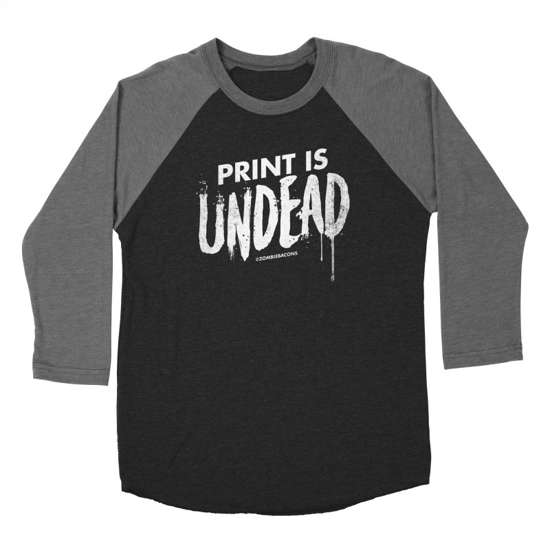 PRINT IS UNDEAD Women's Baseball Triblend Longsleeve T-Shirt by Anthony Petrie Print + Product Design