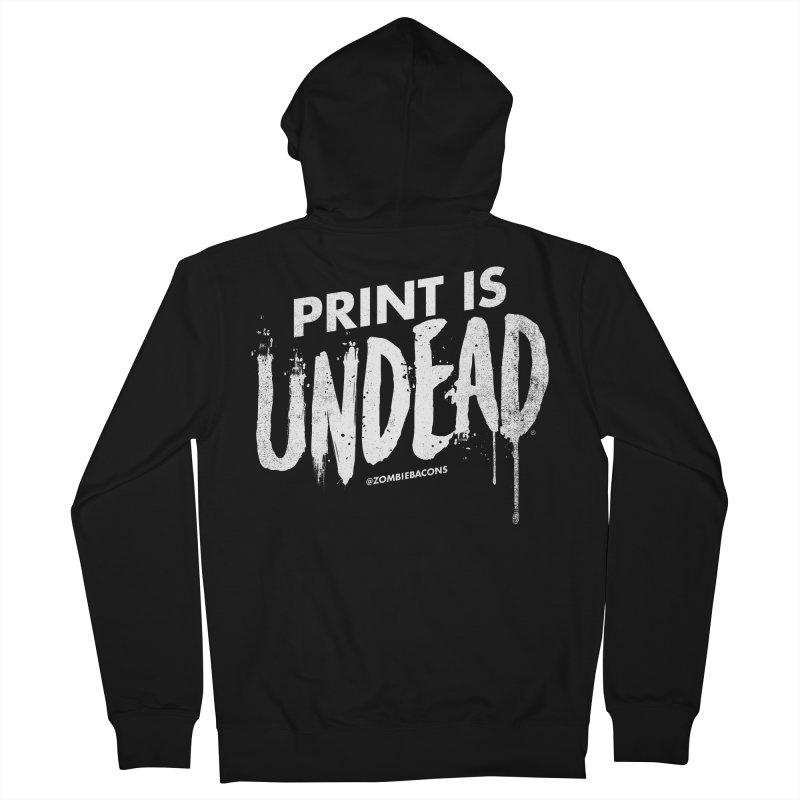 PRINT IS UNDEAD Men's French Terry Zip-Up Hoody by Anthony Petrie Print + Product Design