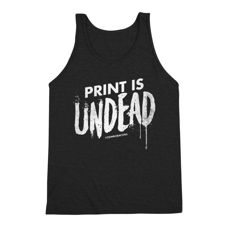 PRINT IS UNDEAD Men's Triblend Tank by Anthony Petrie Print + Product Design