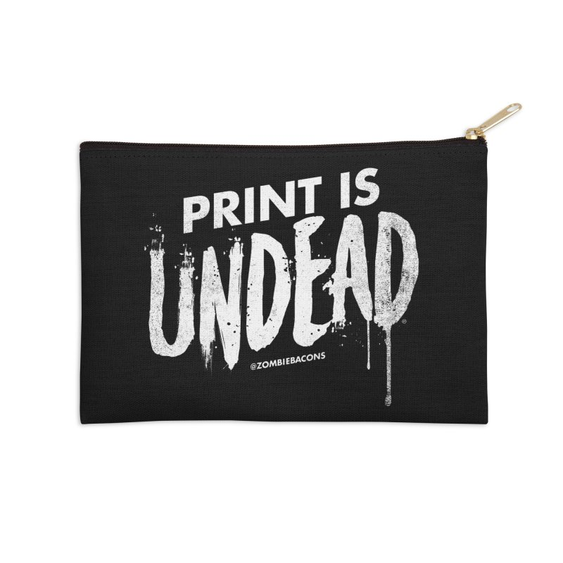 PRINT IS UNDEAD Accessories Zip Pouch by Anthony Petrie Print + Product Design