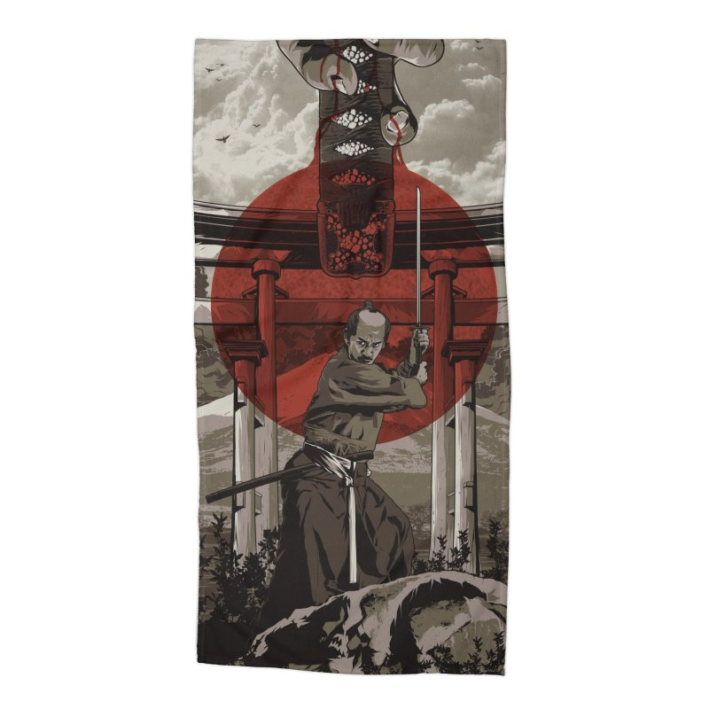 A Warrior's Dream Part II: Samurai Accessories Beach Towel by Anthony Petrie Print + Product Design