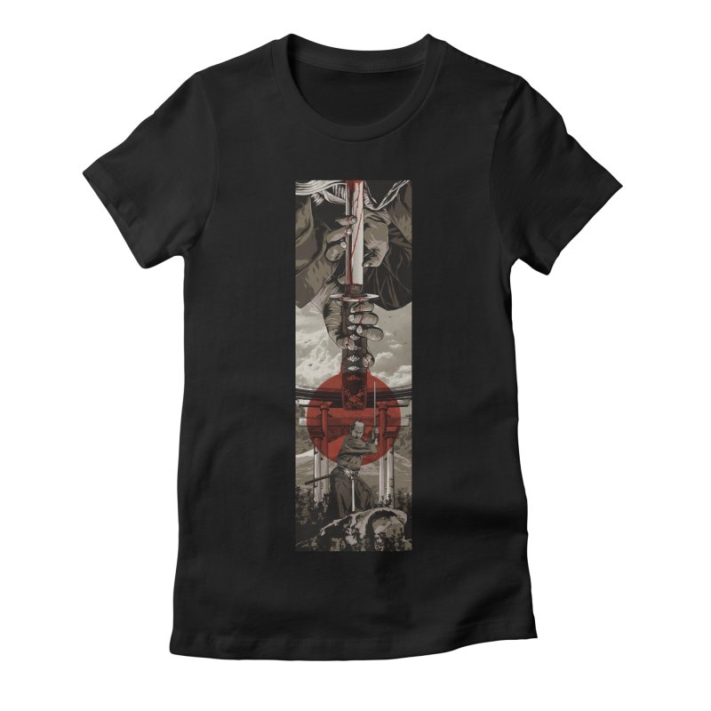A Warrior's Dream Part II: Samurai Women's Fitted T-Shirt by Anthony Petrie Print + Product Design