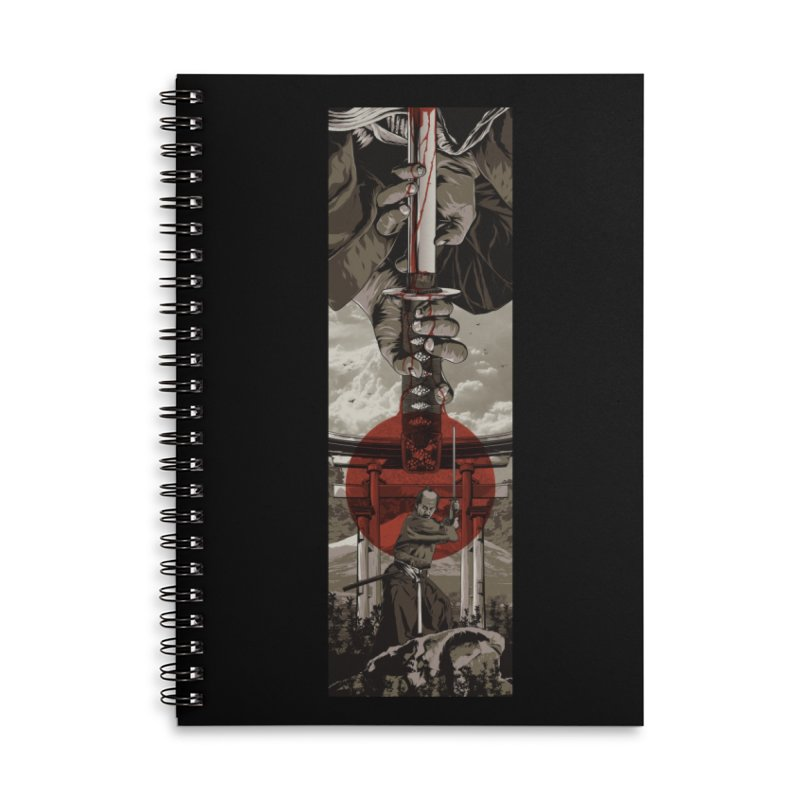 A Warrior's Dream Part II: Samurai Accessories Lined Spiral Notebook by Anthony Petrie Print + Product Design