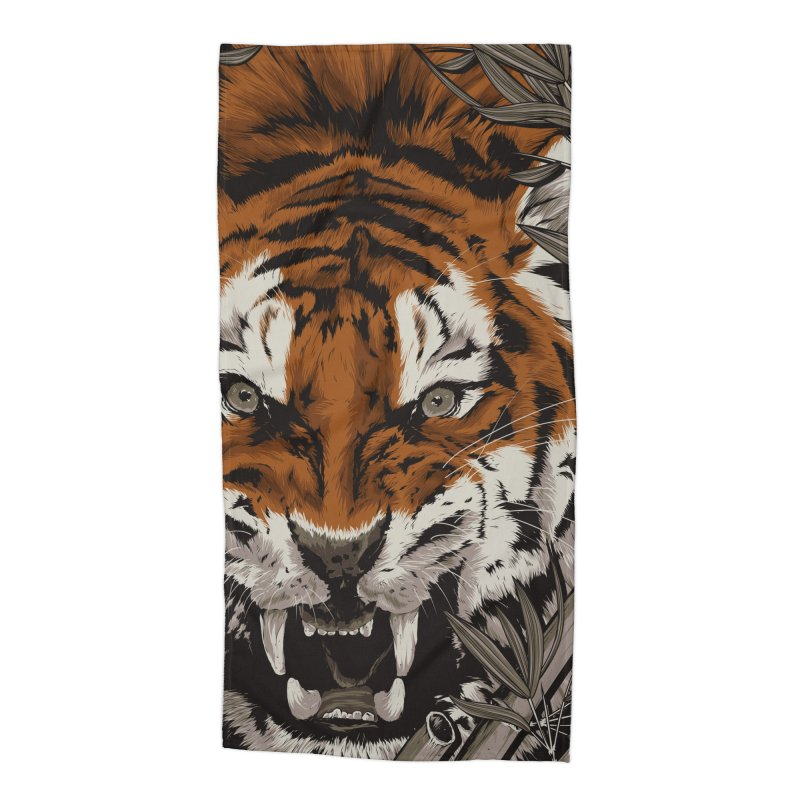 A Warrior's Dreams Part III: Tiger Accessories Beach Towel by Anthony Petrie Print + Product Design