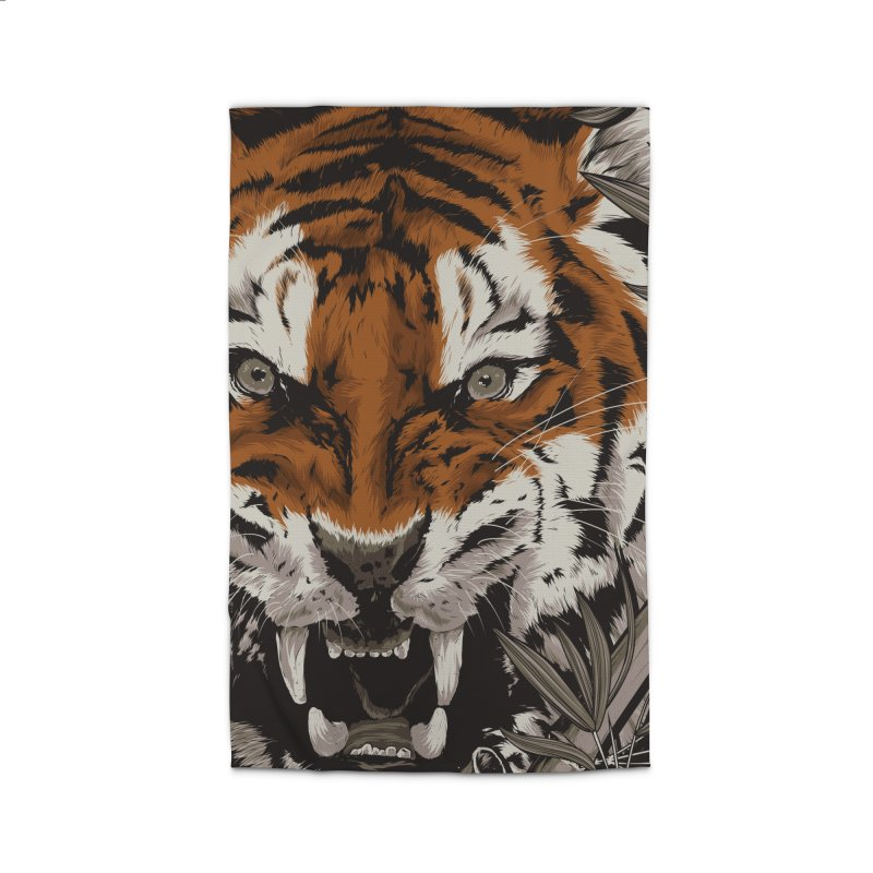 A Warrior's Dreams Part III: Tiger Home Rug by Anthony Petrie Print + Product Design