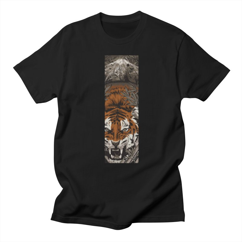 A Warrior's Dreams Part III: Tiger Men's T-shirt by Anthony Petrie