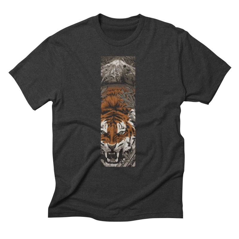 A Warrior's Dreams Part III: Tiger Men's Triblend T-Shirt by Anthony Petrie Print + Product Design