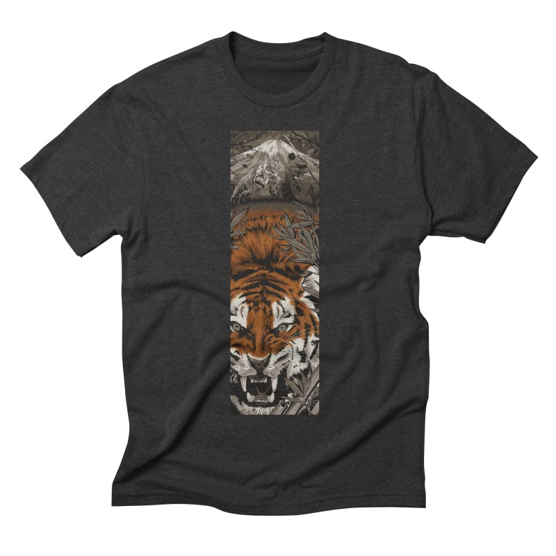 A Warrior's Dreams Part III: Tiger Men's Triblend T-shirt by Anthony Petrie