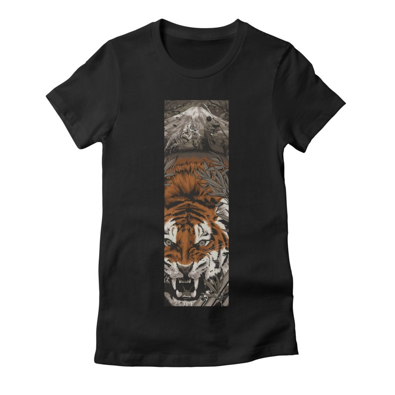 A Warrior's Dreams Part III: Tiger Women's Fitted T-Shirt by Anthony Petrie Print + Product Design