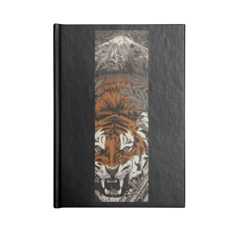 A Warrior's Dreams Part III: Tiger Accessories Blank Journal Notebook by Anthony Petrie Print + Product Design