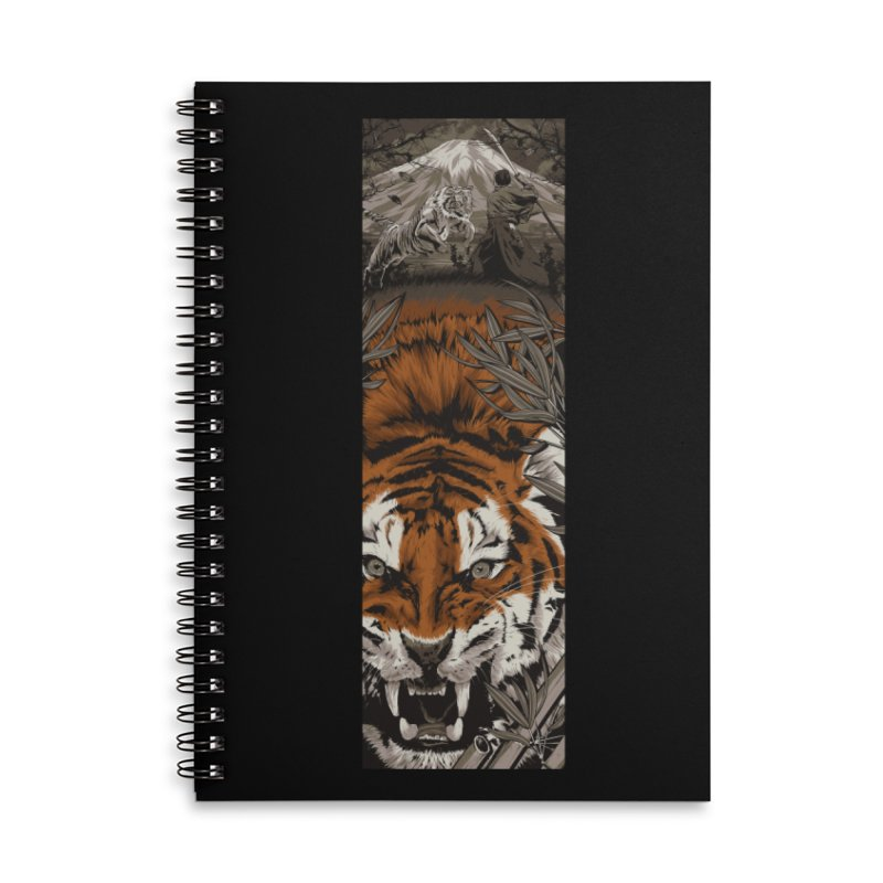 A Warrior's Dreams Part III: Tiger Accessories Lined Spiral Notebook by Anthony Petrie Print + Product Design