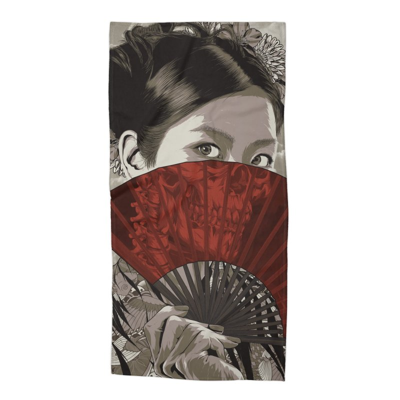 A Warrior's Dreams Part IV: Geisha Accessories Beach Towel by Anthony Petrie Print + Product Design