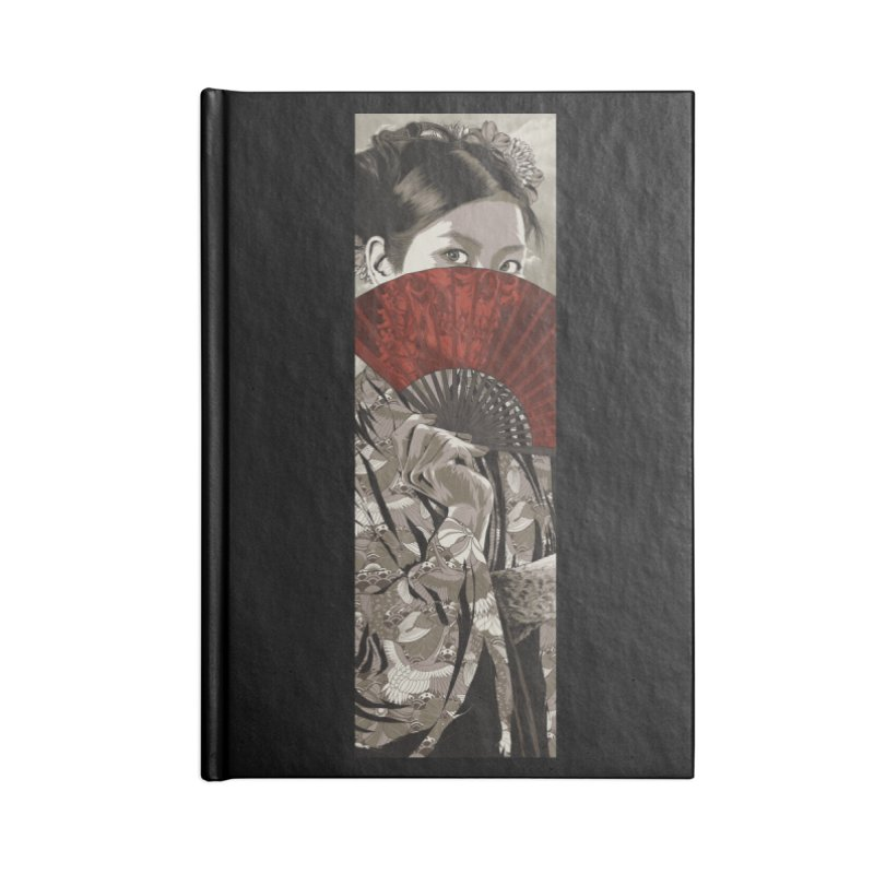A Warrior's Dreams Part IV: Geisha Accessories Blank Journal Notebook by Anthony Petrie Print + Product Design