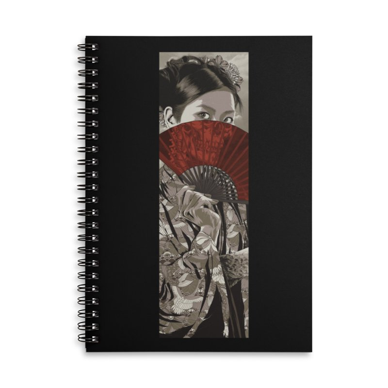 A Warrior's Dreams Part IV: Geisha Accessories Lined Spiral Notebook by Anthony Petrie Print + Product Design